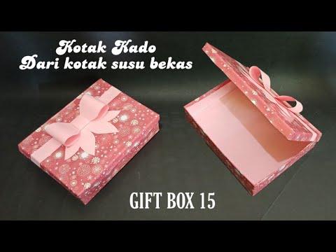 Kotak Kado Kreatif Dari Kotak Susu - Gift Box 15 - Kerajinan Tangan Dari Barang Bekas
