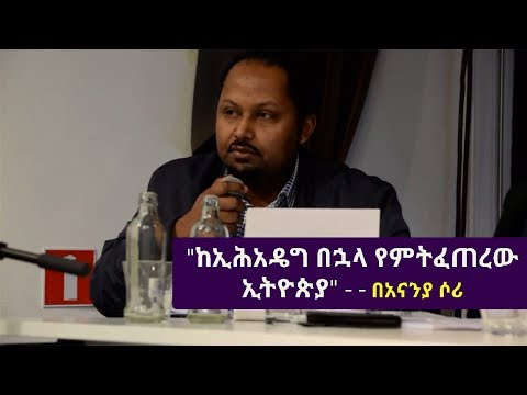 Ananya Sori - (ከኢሕአዴግ በኋላ የምትፈጠረው ኢትዮጵያ) Ethiopian EFE Conference | Brussels December 2, 2017