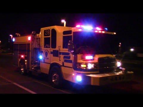 CCFD Engine 28  LVF&R Engine 2, 44, & Rescue