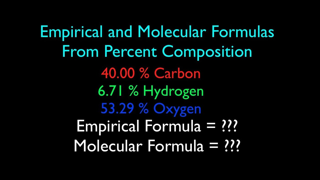 empirical and molecular formula from percent composition no 1