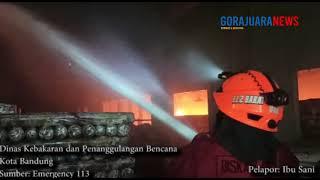 BREAKING NEWS : Kebakaran Pabrik Garmen di Jalan Sudirman Bandung
