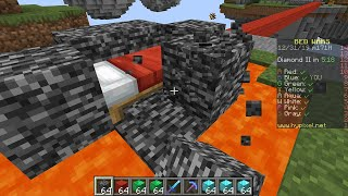 Minecraft Bedwars but I used CREATIVE MODE for 30 seconds...