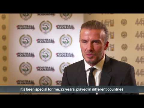 Beckham 'blessed' by PFA merit award - 동영상