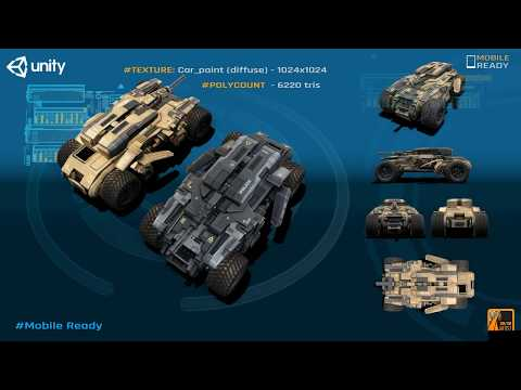 Ranger Military Vehicle Game Asset for Unity