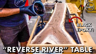 "Live Edge EPOXY RESIN ""Reverse River"" Table 💧 Woodworking How-To"