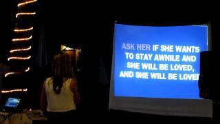 Alice singing karaoke 'she will be loved' in goa