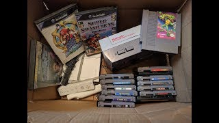 Thrift Store Game Finds! HUGE NES Haul, Gamecube Games, Goodwill Wii bundle,  TONS of finds!