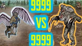 9999 Arch Angels Vs 9999 Ancient Behemots Heroes 3 ! homm3 (heroes of might and magic)