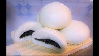 手揉 快速 做 低油 芝麻 包子 low fat black sesame seed powder steamed buns 黑芝麻 低脂 養生