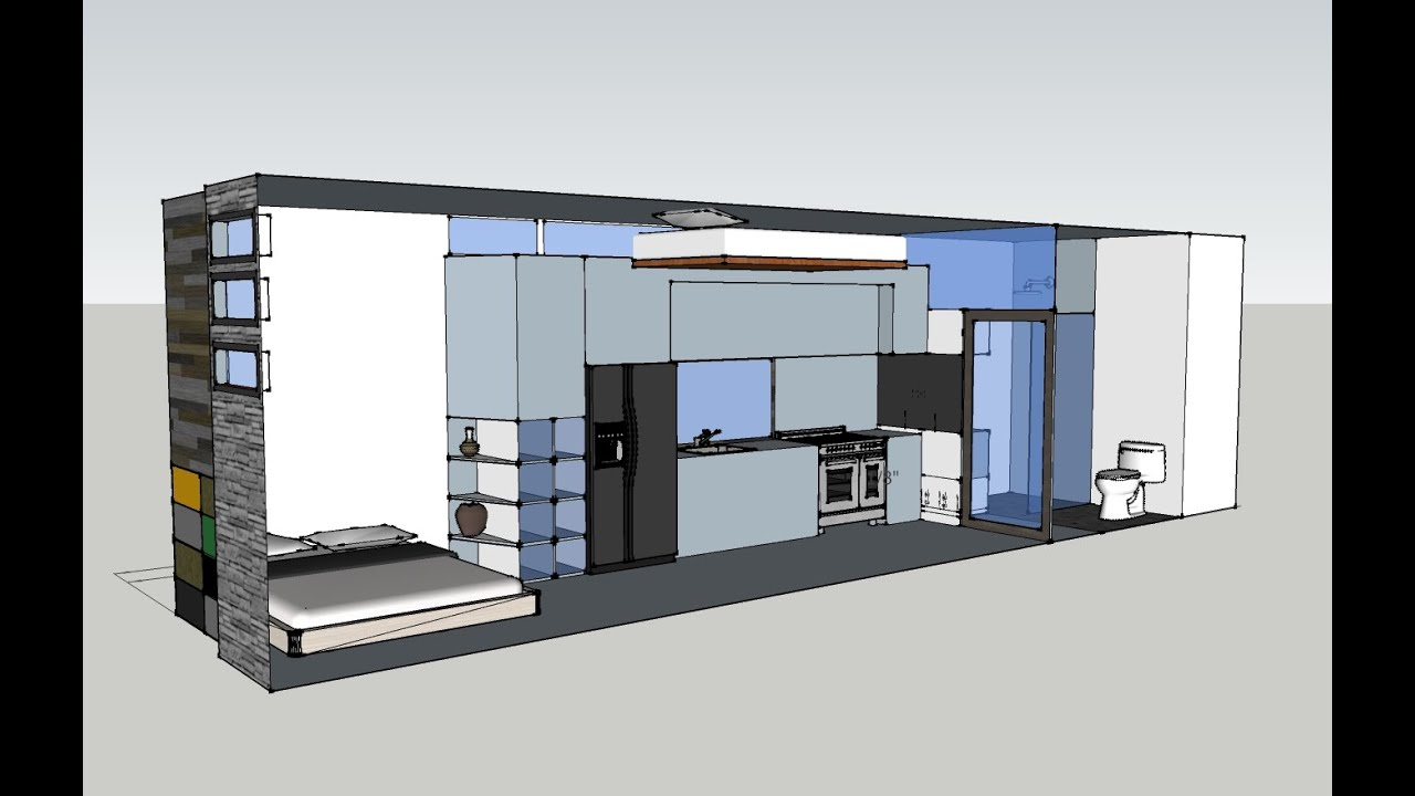 Tiny House Open Floor Sketchup Designs Youtube