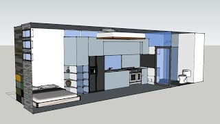 Tiny House Open Floor Sketchup Designs