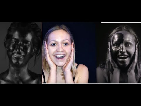 THIS IS WHAT WHITE PEOPLE REALLY LOOK LIKE WITH SUNBLOCK ( THEY ARE BLACK )