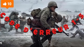 DEMARRER LE MODE MULTIJOUEUR SUR WWII ( CODE D'ERREUR 1-5 )