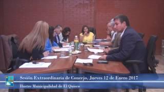 Concejo Municipal Extraordinario, Jueves 12 de Enero 2017