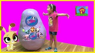 Biggest Littlest Pet Shop Surprise Egg with LPS Toys Inside!