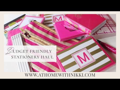 Budget Friendly Stationery Haul