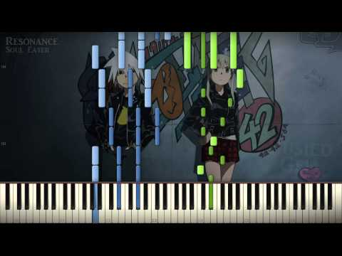 [Synthesia Tutorial] Soul Eater - Resonance - Hard Piano Solo