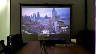 WEJOY Mini projector to play TV series mobile phone shooting