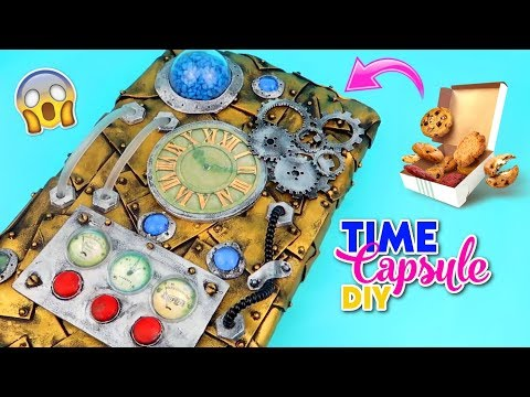 Awesome crafts with recycling materials | DIY Storage box decorated like a Time Machine