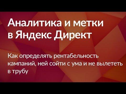 Аналитика и метки объявлений в Яндекс Директ (6 видео из 6)