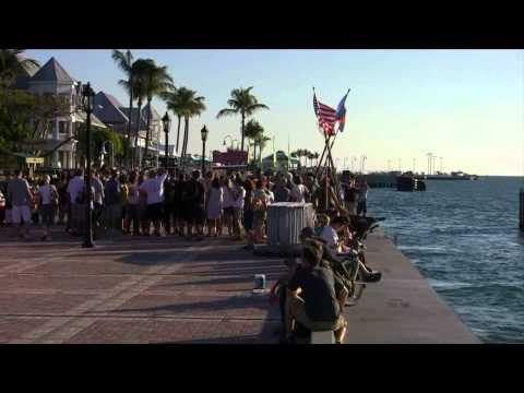 Sunset celebration Key West Florida