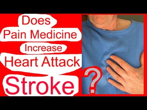 Does taking pain medicine increase risk of heart attack or stroke?
