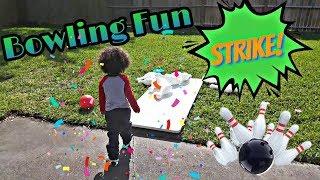 Baixar Bowling Fun with GIANT Bowling Pins! | Backyard Fun | JJ's Play World