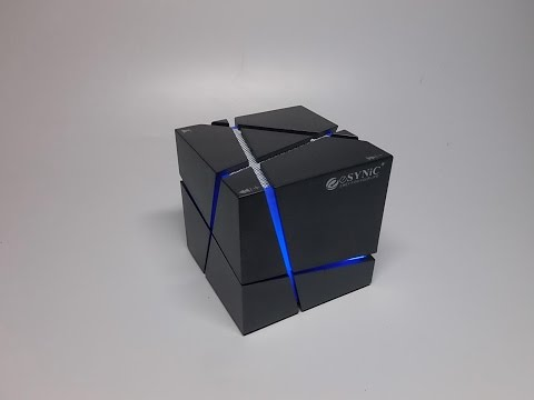 ESYNiC Bluetooth 4.0 Wireless Bluetooth Speaker Stereo Magic Cube Music Player with Colorful LED