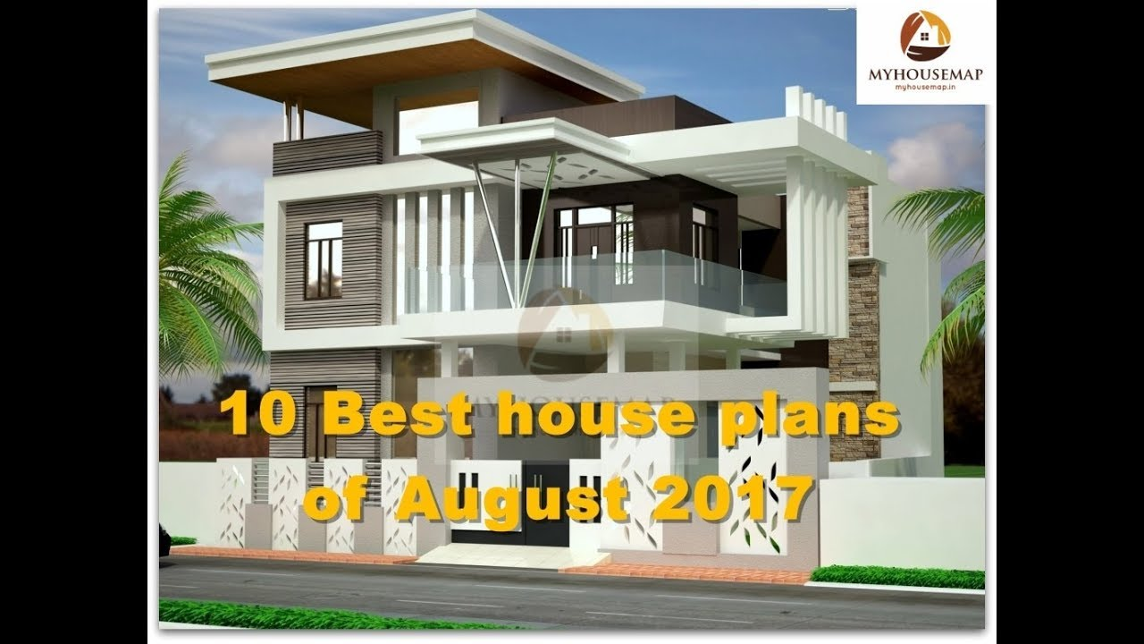 Indian Home Design: 10 Best House Plans Of August 2017