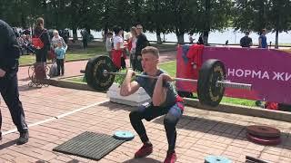 Тяжелая атлетика ( открытая тренировка на «Дне физкультурника»)