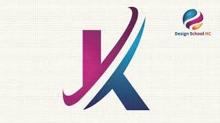 Schnelle Brief-Logo Design Tutorial in Adobe illustrator - Erstellen von Benutzerdefinierten Buchstaben K | Design School MC