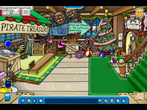 Club Penguin Rockhopper and Christmas Pin 08