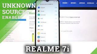 How to Allow Unknown Sources in REALME 7i – Enable Unofficial Sources