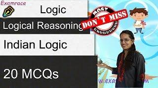 Logical Reasoning - Indian Logic Pramanas: Most Imp. MCQs NET Practice Set Testing Tuesdays