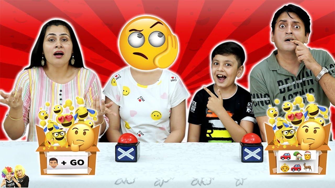 EMOJI CHALLENGE   Family Challenge   Mom vs Dad   Aayu and Pihu Show