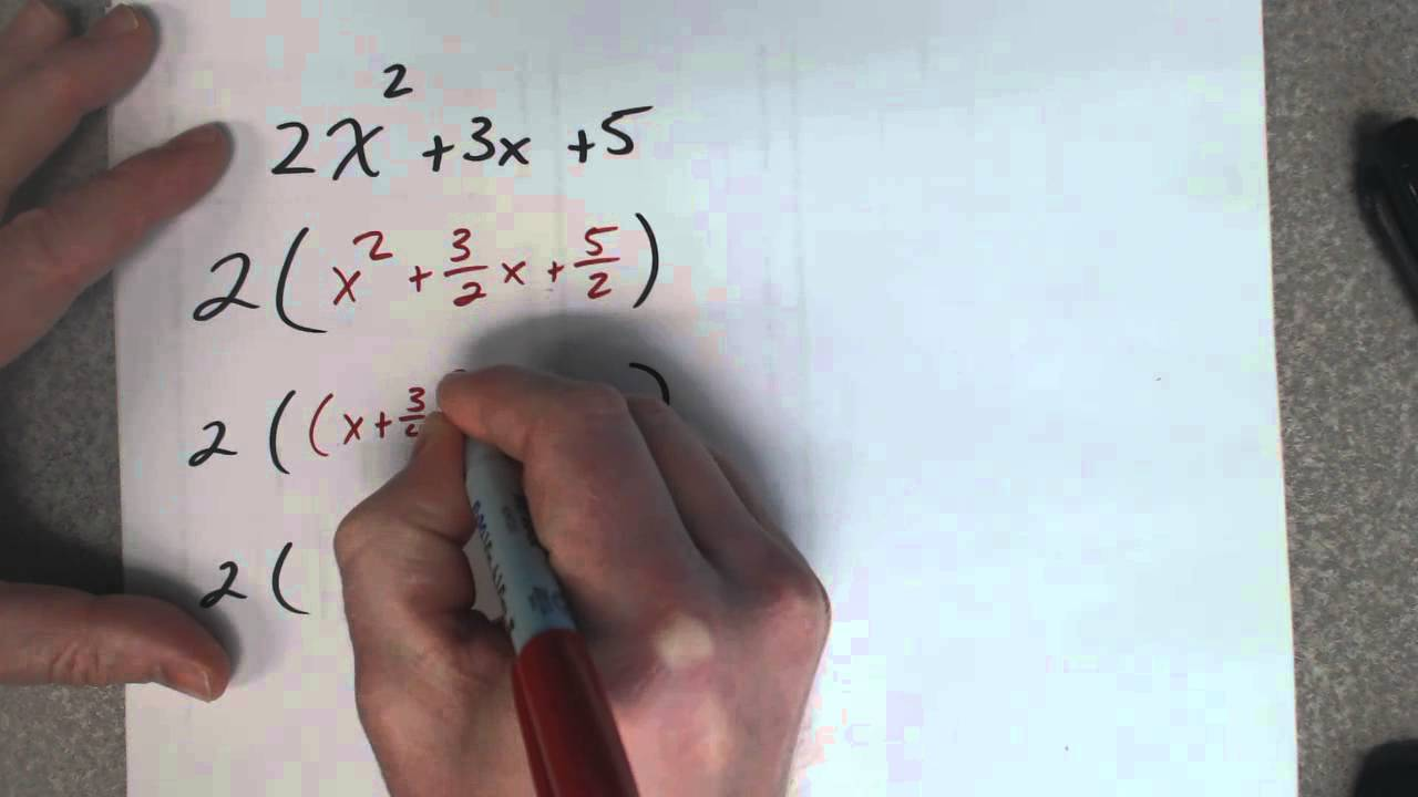 Completing The Square With A Number In The Front