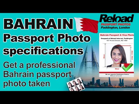 Get your Bahrain Passport Photo and Visa Photo snapped in Paddington, London
