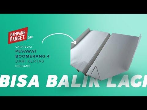 Membuat Origami Pesawat Boomerang 4