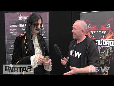 Johannes from AVATAR Interview at Download UK 2018   HEAVY TV