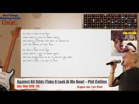 Against All Odds (Take A Look At Me Now) - Phil Collins Guitar CAPO Backing Track with chords