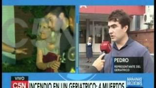 C5N - SOCIEDAD: TRAGICO INCENDIO EN UN GERIATRICO (PARTE 6)