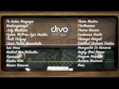 Melo Radio Divo  Manasa Thotta Melodies Jukebox  A R Rahman, Yuvan, Harris, Anirudh & More