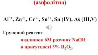 Аналітична хімія. Якісний аналіз.