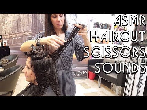 ✂️ Hairdresser Girl Haircut - Scissors Sounds - ASMR no talking