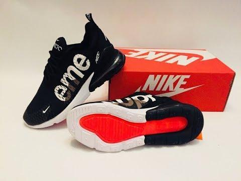 sports shoes dde9c e5b3f Кроссовки мужские Nike Air Max 270 Flyknit x Supreme