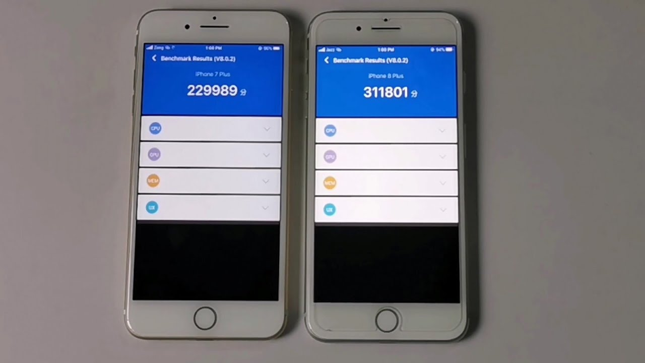 Iphone 7 Plus 13 3 Vs Iphone 8 Plus 13 3 Antutu Test And Little Battery Test Youtube