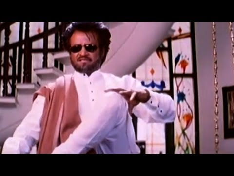 Narasimha Movie || Rajanikanth Stylish Action at Ramya Krishna