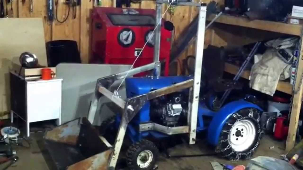 Homemade Winch Powered Front End Loader Part 1 Panzer Youtube