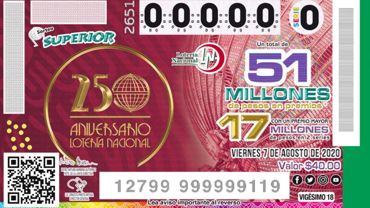 Sorteo Superior No.2651 | Conmemorando el 250 Aniversario Lotería Nacional