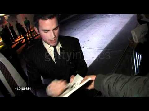 Matt Bomer Greets Fans At Bryan Lourd Pre Oscar Party